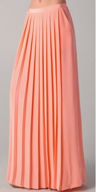 Maxi skirt. Aren't ready to bare your legs? No problem. Tuck tees and tanks into this baby and you've instantly made yourself look taller and smaller at the waist. Like magic. Get it: Tibi maxi skirt, $231 from $330 at Shopbop.