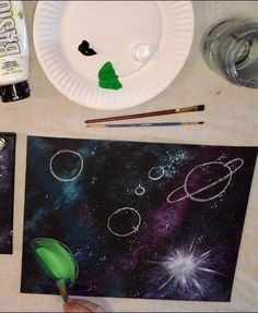 Galaxy Painting - Step By Step Acrylic Painting Tutorial Galaxy Painting Acrylic, Planet Painting, Canvas Painting Tutorials, Galaxy Background, Space Painting, Step By Step Painting, Beginner Painting, Learn To Paint, Painting Inspiration