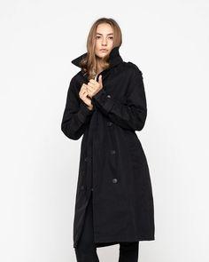 The York – Baro Trench, Raincoat, Dress Up, York, Stylish, Fabric, Jackets, Black, Fashion