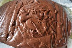 Brownie med vanilje krem -
