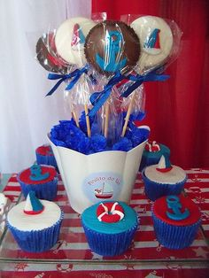 Nautical Cake Pops!