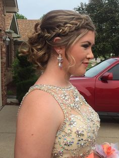 Prom hair ❤️❤️ #promhair #braid
