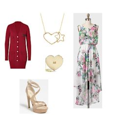 A demure floral dress is the perfect pairing wth the gorgeous heart star necklace in Favery's Love Mission