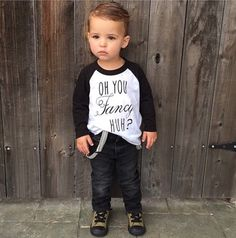 Oh You Fancy, Huh? -Handmade Black Baby & Kids Baseball Tshirt. American Apparel Raglan. Screen Printed Black Letters. 3 Months- 6 Years by OneTwentyTwoKids on Etsy https://www.etsy.com/listing/209857488/oh-you-fancy-huh-handmade-black-baby