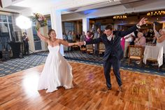 What an opening first dance at this wedding reception with the bride and groom following their wedding ceremony at Harbour Ridge Yacht and Country Club in Pt St Lucie Florida.