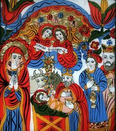 The Nativity by Ostap Lozynsky. Religious Icons, Religious Art, Prayer Cards, Sacred Art, Christian Art, Nativity, Cool Art, Art Gallery, My Arts