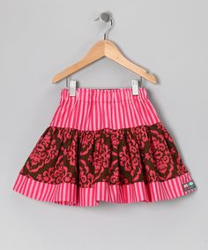 Brown & Pink Cuppy Cake Twirly Skirt - Infant, Toddler & Girls