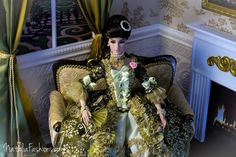 """https://flic.kr/p/nnEQ1o   Fashion Royalty FR16  OOAK Outfit """"Madame de Pompadour"""" by Natalia   Have finally finished this Big Project!  I have made the dress similar to Madame de Pompadour's  dress from Boucher Francois's picture. The dress fits FR16 and Tonner Tyler and Antoinette (pictures will be on Flickr soon)  All composition (the dress, loveseat and diorama)   will be available on Ebay   soon."""