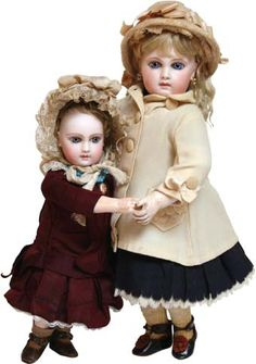 A pair of delicious Jumeau dolls.