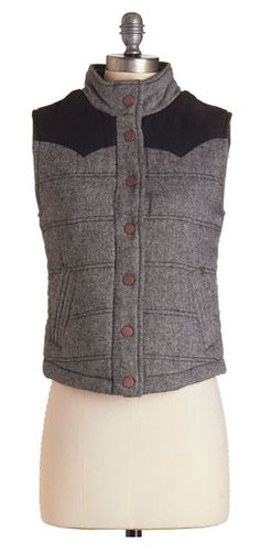 Quilted vest #ilovefall