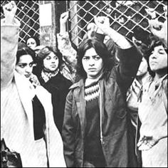 Demonstration of Iranian women against Ayatollah Khomeini's statement regarding the veil, 1979
