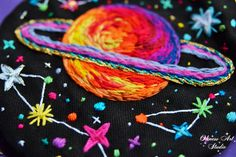 Flower Embroidery Designs, Embroidery Bags, Fun Crafts, Arts And Crafts, Outer Space Theme, Rainbow Bag, Red Planet, Fashion Painting, Elsa