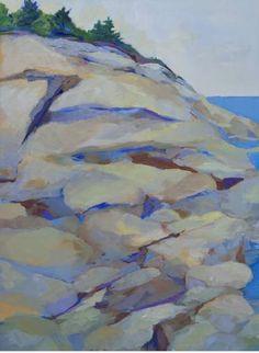 "Saatchi Art Artist Gayle Fitzpatrick; Painting, ""Maine Coast"" #art"