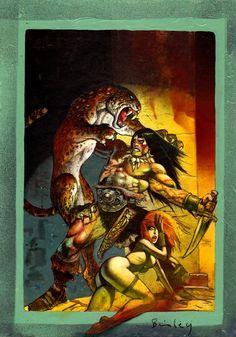 Conan By Simon Bisley Simon Bisley, Comic Books Art, Comic Art, Book Art, Conan The Destroyer, Conan The Barbarian, Sword And Sorcery, Tumblr, Fantasy Illustration