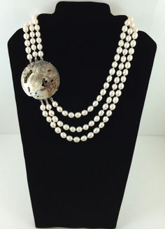 Pearl Necklace by SigneCharlie on Etsy, $98.34