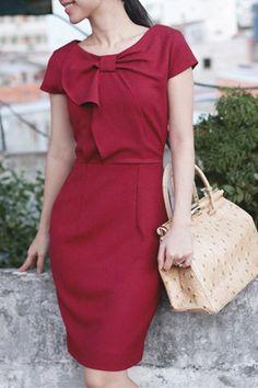 Red Dress | More ladylike looks here: http://mylusciouslife.com/a-ladylike-life/