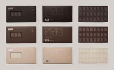 Chocolate mail stamps