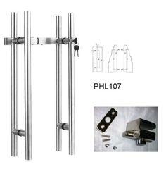 American Cylinder Glass Door Locking Pull Handles