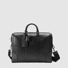 Gucci - Gucci Signature leather briefcase