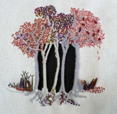 COURS DE COUTURE BRODERIE PATCHWORK au fil du leman | Au fil du Léman. Pages of beautiful examples of embroidered trees on this French site. myb