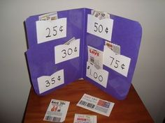"""Cut and sort coupons by price. Practical life skills, math, and fine motor! Love this idea. Great use of all those coupon flyers we have laying around. Helps older students find the relevant information in a """"sea of print."""" Read more and see other great practical math ideas at: www.drjean.org/..."""