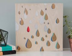 Cricut Crafts: Stenciled Raindrop Wall Art