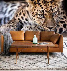 Vlies fotobehang Luipaard - Dieren behang | Muurmode.nl Wall Painting Living Room, Cat Bedroom, Duplex House Design, Living Room Designs, Canvas Wall Art, Decoration, Wallpaper, Home Decor, Posters