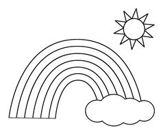 R is for Rainbow coloring page!