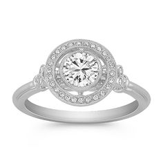 Vintage-loving brides, this white sapphire + diamond ring from @shanecompany is for you!