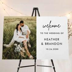 Modern Welcome To The Wedding Of Wedding Photo Foam Board