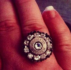 Creative idea a ring made from a shotgun shell