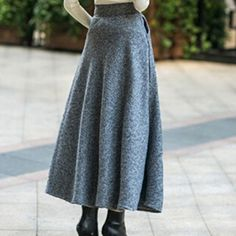 Sisjuly Women A-line Skirt Fashion Ankle-Length Full Skirt