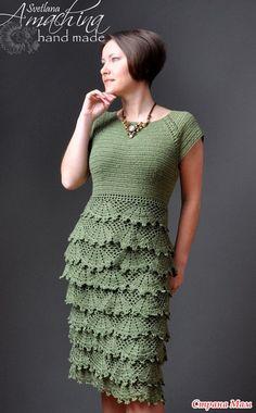 Вот такое платье сама придумала и связала. Пряжа SUMMER - YarnArt, крючки использовала разные от 2,5 до 3,5. Обший расход на маленький размер (S) - 550 г...