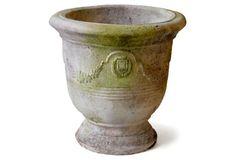 "10"" Garland Wreath Bowl, White Moss Orlandi Statuary $45 One Kings Lane"