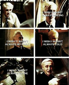 Awww this makes me totally rethink Draco Harry Potter Feels, Cute Harry Potter, Harry Potter Pictures, Harry Potter Jokes, Harry Potter Universal, Draco Malfoy Quotes, Draco And Hermione, Harry Potter Draco Malfoy, Hogwarts