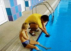 How to put on a swimming cap… woah... Gif...