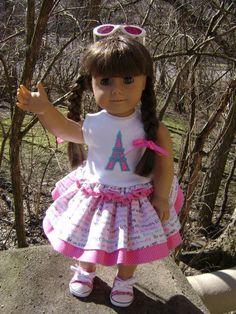 I'll Take Paris I 18 Inch Doll Apparel Custom by gofancynancy, $24.99