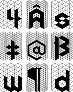 Polygon™—a typeface by Andy Babb and now available at Hype For Type