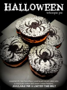 No tricks, just treats! Halloween whoopie pie #halloween #spooky #pie