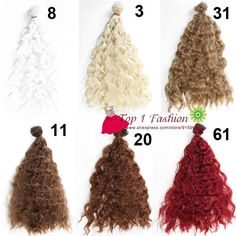 5 pieces/lot thick doll hair 25cm*100CM imitationwoollen curl natural color doll wigs hair for OB SD for 1/3 1/4 BJD