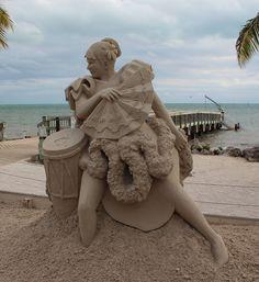 Calypso Dancer Sand Sculpture Sand Sculptures, Sand Art, Garden Sculpture, Dancer, Outdoor Decor, Dancers