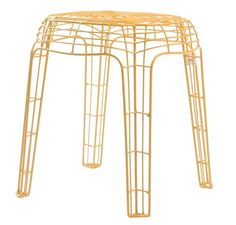 Krukjes!! Stool Wire yellow by Zuiver at stealtheroom.com