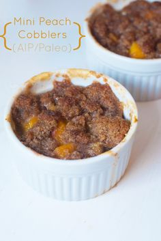 Mini Peach Cobblers (AIP/Paleo)