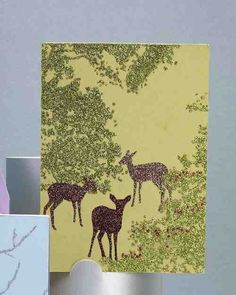 Use a limited glitter palette to yield an elegant look on these nature-inspired cards.Deer Clip Art
