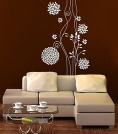 Wall vinyl sticker decal art   Abstract  flower by creativeadb, $88.00