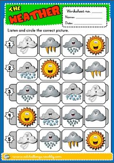 the weather - worksheet