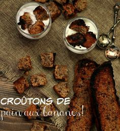 Croûtons de pain aux bananes à déjeuner! French Toast, Beef, Breakfast, Dexter, Food, Juice, Morning Breakfast, Forks, Recipes