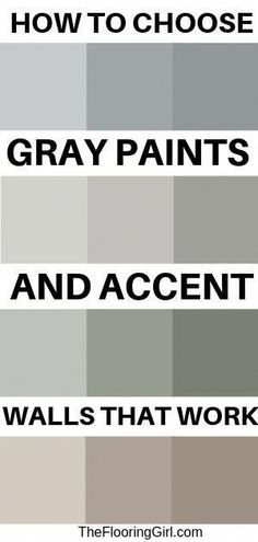 How to choose gray paits and accent walls that work. Paint color selection made easy. diy home accents How to choose gray paits and accent walls Wall Paint Colors, Paint Colors For Living Room, Paint Colors For Home, Painting Accent Walls, Gray Wall Colors, Livingroom Paint Ideas, How To Paint Walls, Best Wall Colors, Wall Painting Living Room