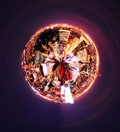 not sure where this is, but it was captured beautifully | Little city-planet by Jake Marsiglia