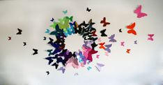 Free US Shipping 100 3D Butterfly Wall Art Circle Burst by LeeShay, $75.00